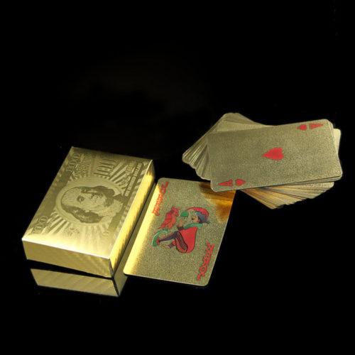 קלפים מצופים זהב