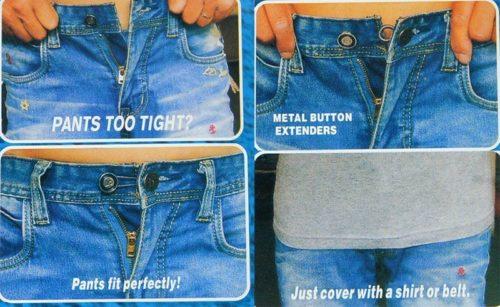 כפתורים להרחבת המכנסיים