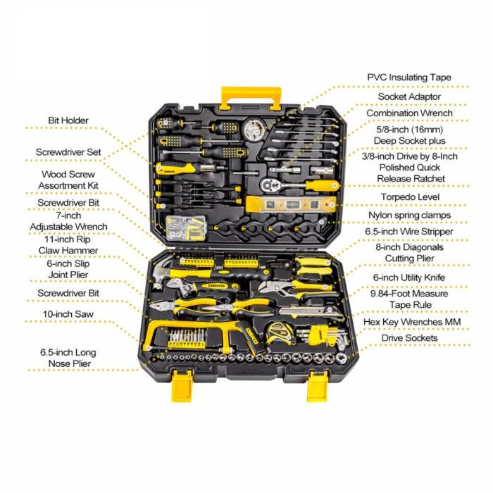 ארגז סט כלי עבודה - 168 חלקים