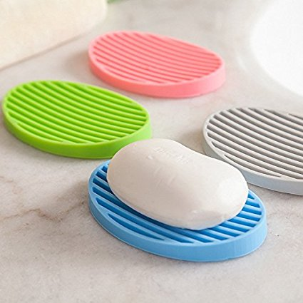 מעמד סיליקון לשמירה ואחסון סבון על הכיור