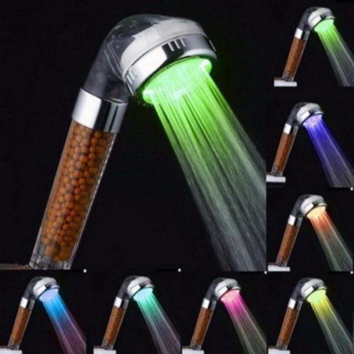ראש מקלחת עוצמתי מחליף צבעים אוטומטי - 7 צבעים