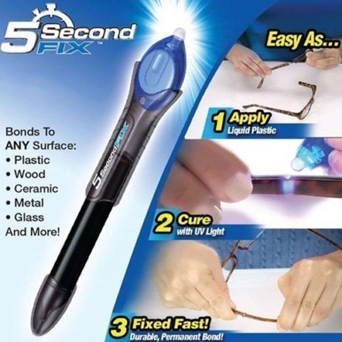 דבק מהיר UV ב-5 שניות