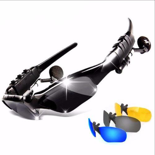 משקפי שמש ספורטיביות משולבות עם אוזניות בלוטות'