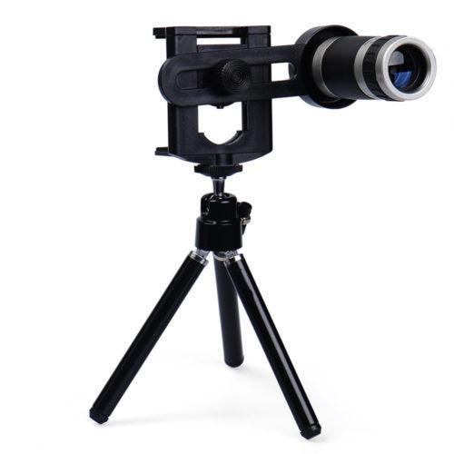 עדשת זום X8 למצלמת הטלפון כולל מעמד מתנה