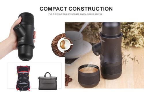 מכשיר נייד להכנת אספרסו/קפה מקפסולות בכל מקום