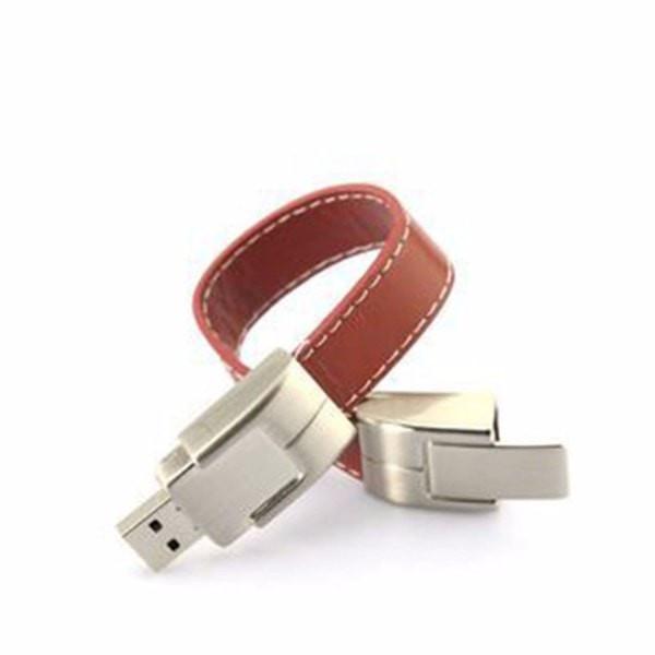 צמיד עור USB אופנתי