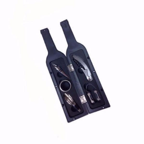 סט אביזרי יין בעיצוב בקבוק