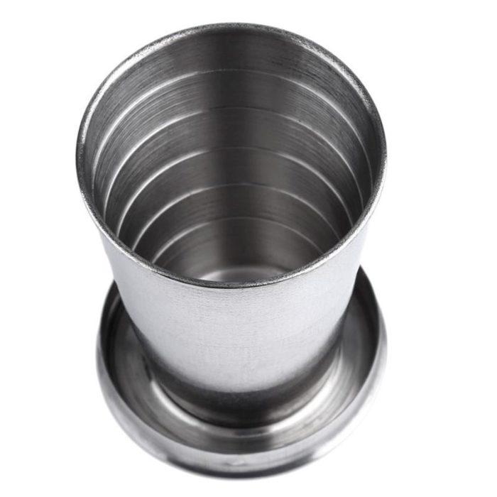 כוס מתכת קומפקטית מתקפלת