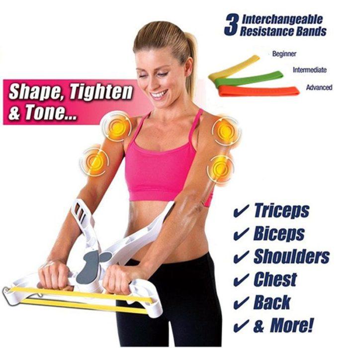מכשיר ביתי לחיטוב וחיזוק השרירים ללא מאמץ