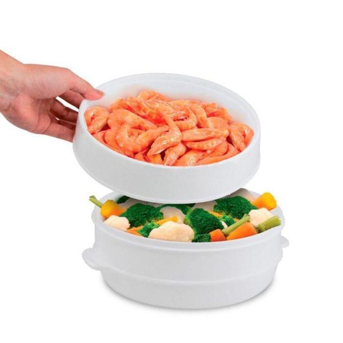 סיר לחץ לבישול ירקות במיקרוגל