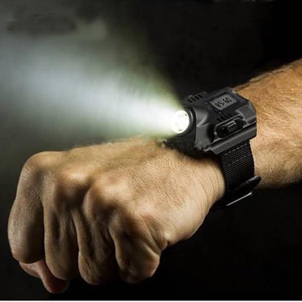 שעון דיגיטלי עם פנס עוצמתי נטען באמצעות USB