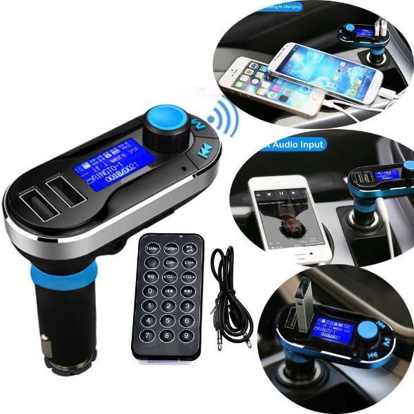 נגן בלוטות' לרכב כולל יציאות USB וכפתורי שליטה למוזיקה ומענה לשיחות