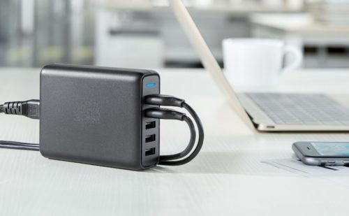 חיבור לחשמל מפצל USB עם 5 יציאות להטענה מהירה