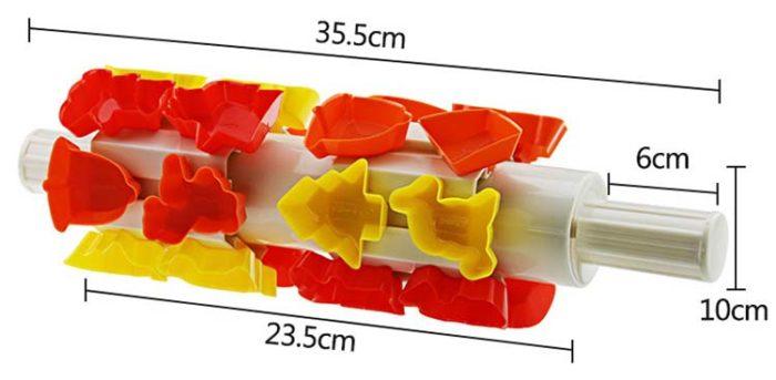 מערוך לחיתוך בצק בצורות לאפיית עוגיות