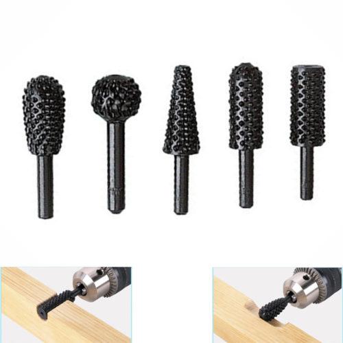 ביטים למקדחה/מברגה לחיתוך,גילוח ועיצוב עץ (5 יחידות)
