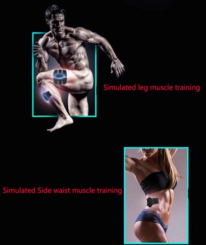 חגורות חיטוב חשמליות לאימון השרירים - סט מלא
