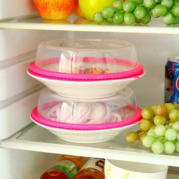 מכסים לכיסוי אוכל על הצלחת למניעת עובש והתייבשות (3 יחידות)