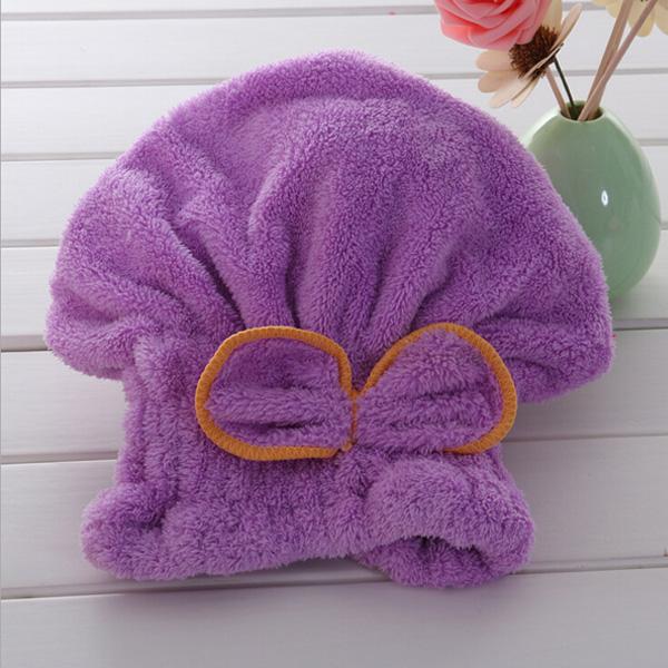 מגבת מותאמת לראש לייבוש מהיר של השיער