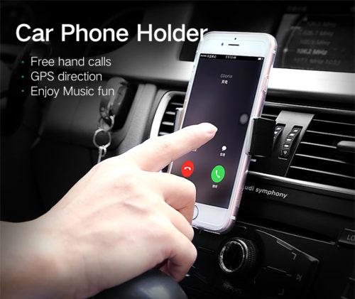 מחזיק מכשירים ניידים אוניברסלי על פתח מזגן הרכב