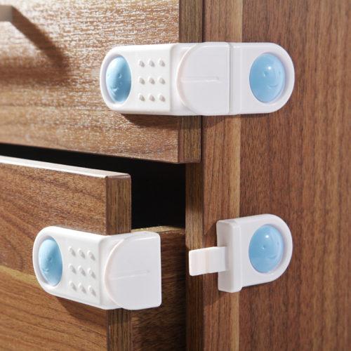 4 מנעולי בטיחות לדלתות ומגירות
