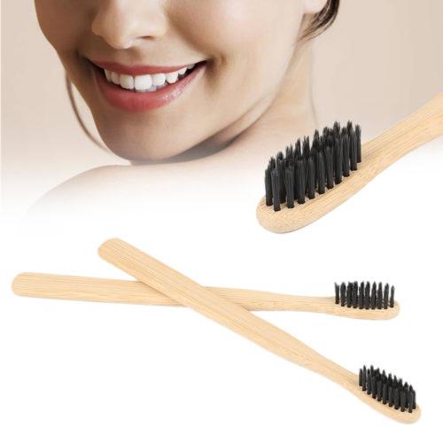 מברשת שיניים עם סיבים מבמבוק להלבנה וצחצוח מקצועי