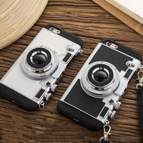 מגן אייפון בצורת מצלמת רטרו