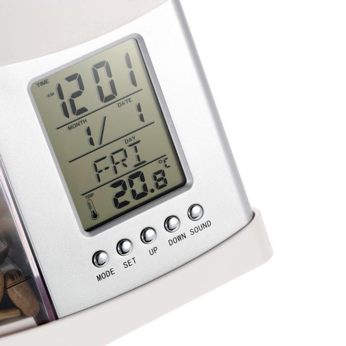 אקווריום שולחני משולב שעון ומנורה