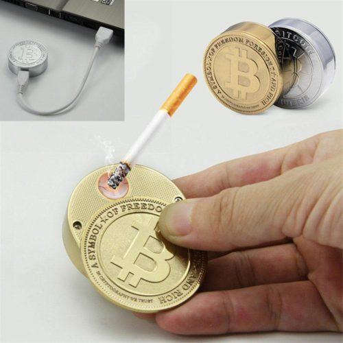 מצת USB חשמלי בצורת מטבע ביטקוין