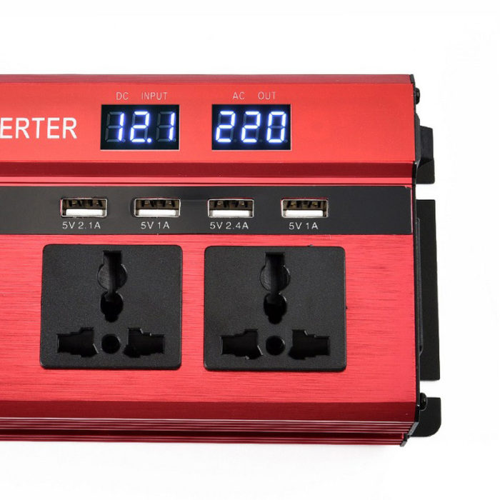ממיר חשמל מהרכב לחשמל ביתי עם יציאות USB לטיולים וקמפינג