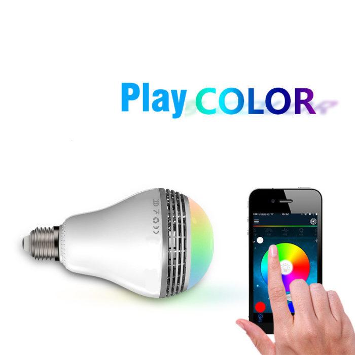 נורת LED מחליפת צבעים רמקול בלוטות'
