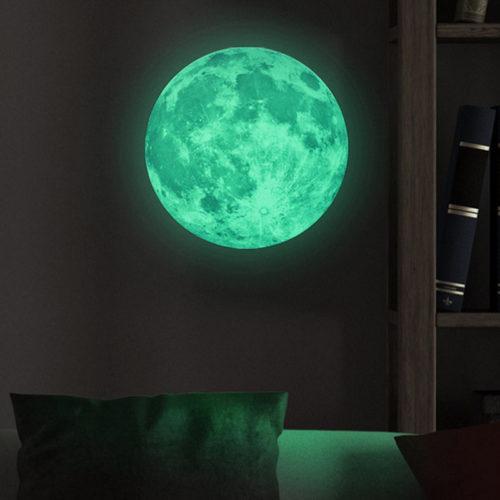 סטיקר ירח זוהר בחושך