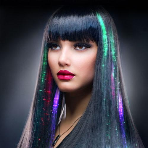 סט קליפסים עם תאורת LED לשיער (5 יח')
