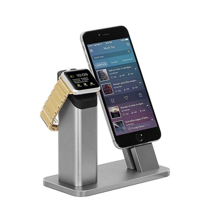 עמדת עגינה והטענה ל Apple Watch & iPhone