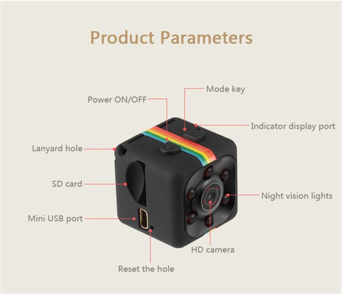 מיני מצלמת HD למעקב / צילום מקצועי