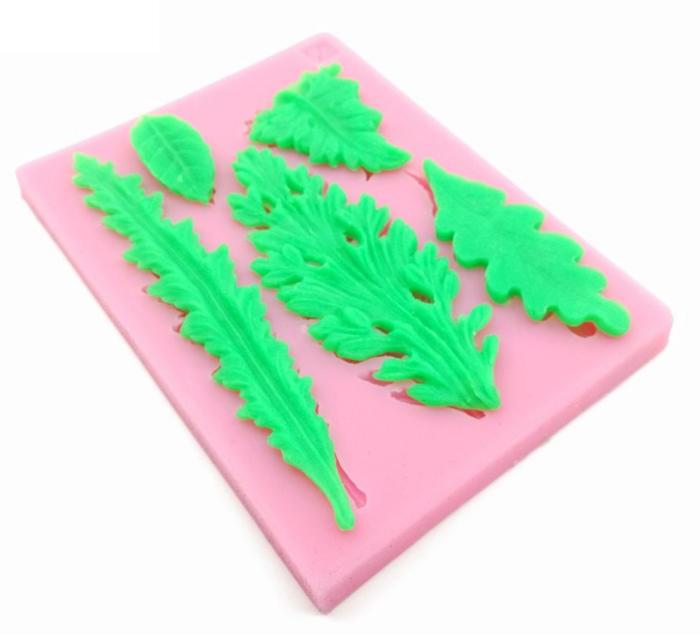 תבנית סיליקון בצורת עלים