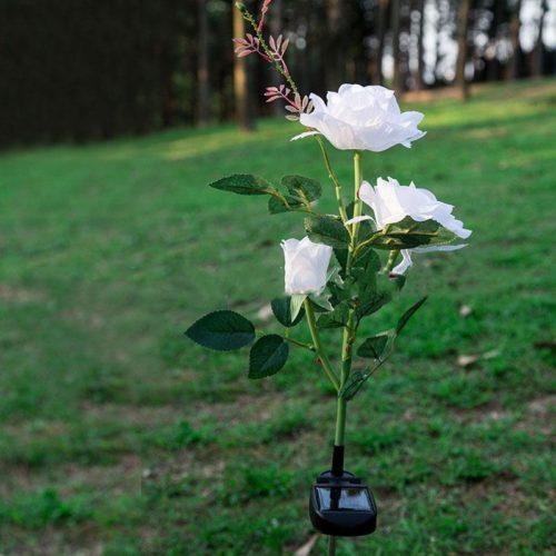 מנורה LED סולארית בצורת פרח