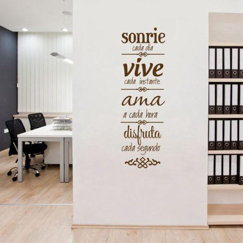 סטיקר משפטים בספרדית מעוצב לבית