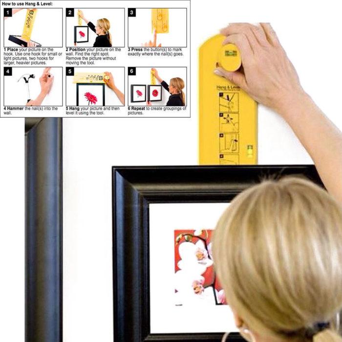 כלי עזר מקצועי לתליית תמונות ישרות