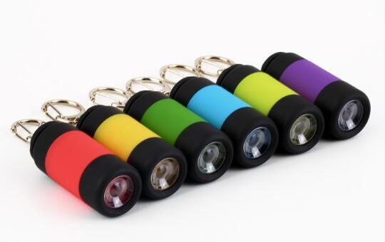 מיני מחזיק מפתחות פנס USB נטען