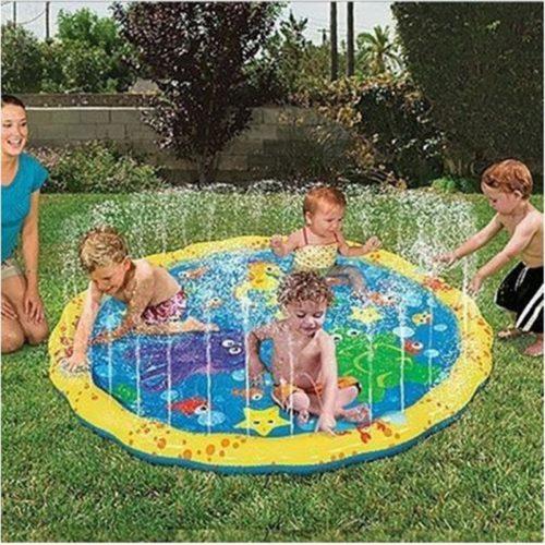 שטיח משחק מתנפח משפריץ מים
