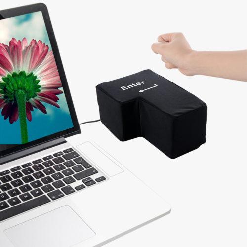 כרית כפתור Enter ענק עם חיבור USB