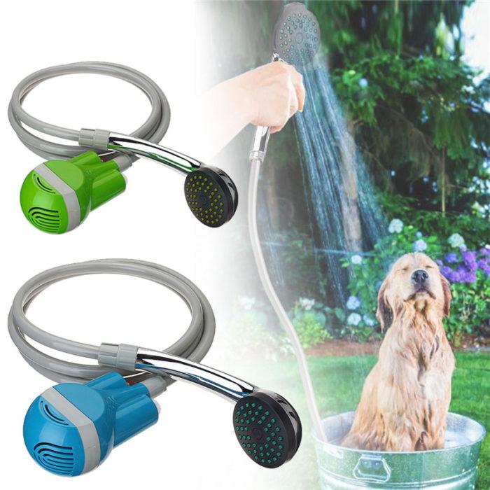 משאבת מים עם צינור מקלחת לקמפינג