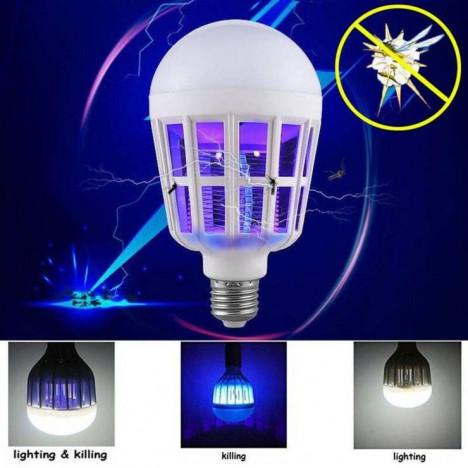 מנורה להשמדת יתושים משולבת תאורת לד חזקה