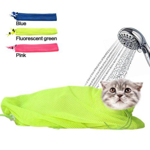 שק ריסון לחתולים למקלחת וטיפוח