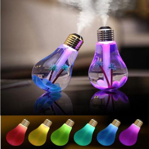 נורת לילה USB מטהרת אוויר בעלת 7 צבעים