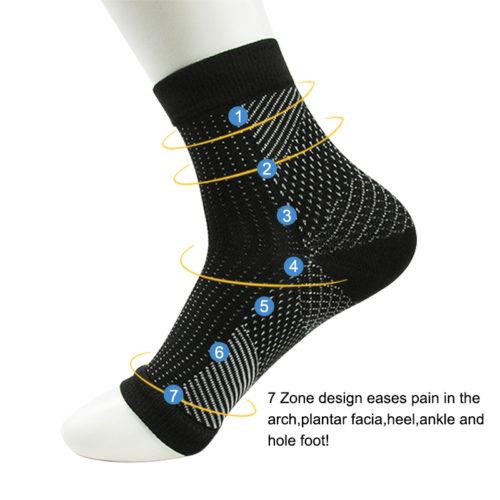 גרבי לחץ לטיפול בכאבי רגליים (זוג אחד)