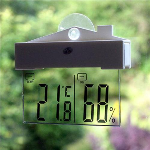 עמדת מזג אוויר נתלית עם צג LCD שקוף
