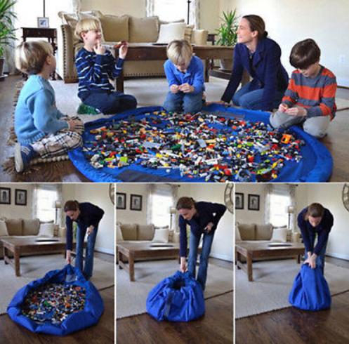 שק למשחק, אחסון וארגון צעצועים ברגע