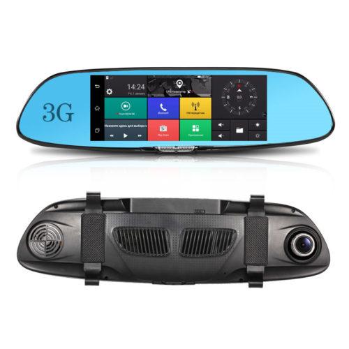 מראת רכב עם מצלמת דרך ו GPS