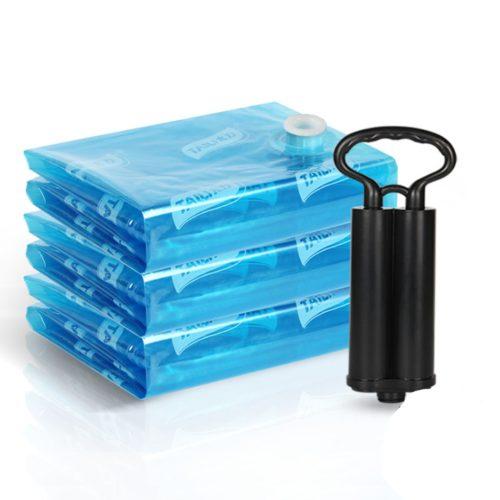 8 שקיות אחסון בואקום החוסכות עד פי 4 מקום + משאבה מתנה